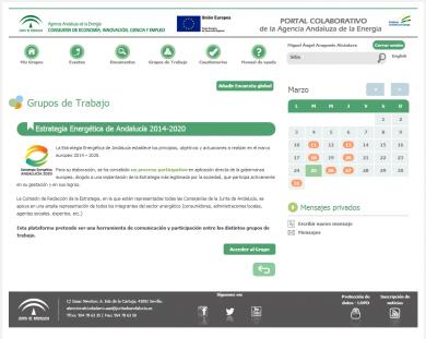 Portal colaborativo de la Agencia Andaluza de la Energía