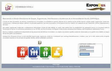 Aplicación Expon@us, para la gestión de Quejas, Incidencias, Felicitaciones y Sugerencias de la Universidad de Sevilla