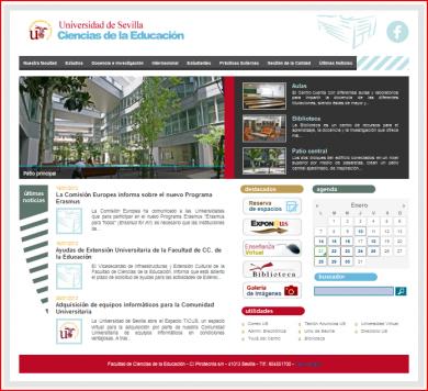 Portal de la Facultad de Ciencias de la Educación. Universidad de Sevilla