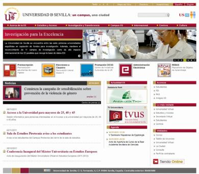 Portal de la Universidad de Sevilla. Versión 2011